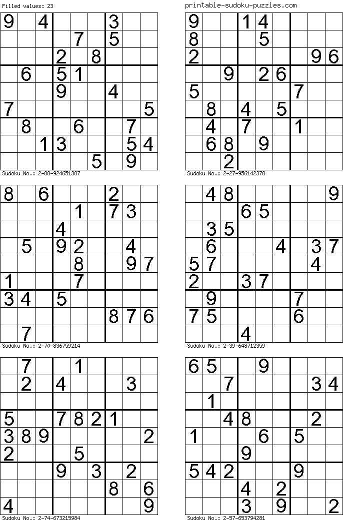 This is a photo of Fan Multi Sudoku Printable