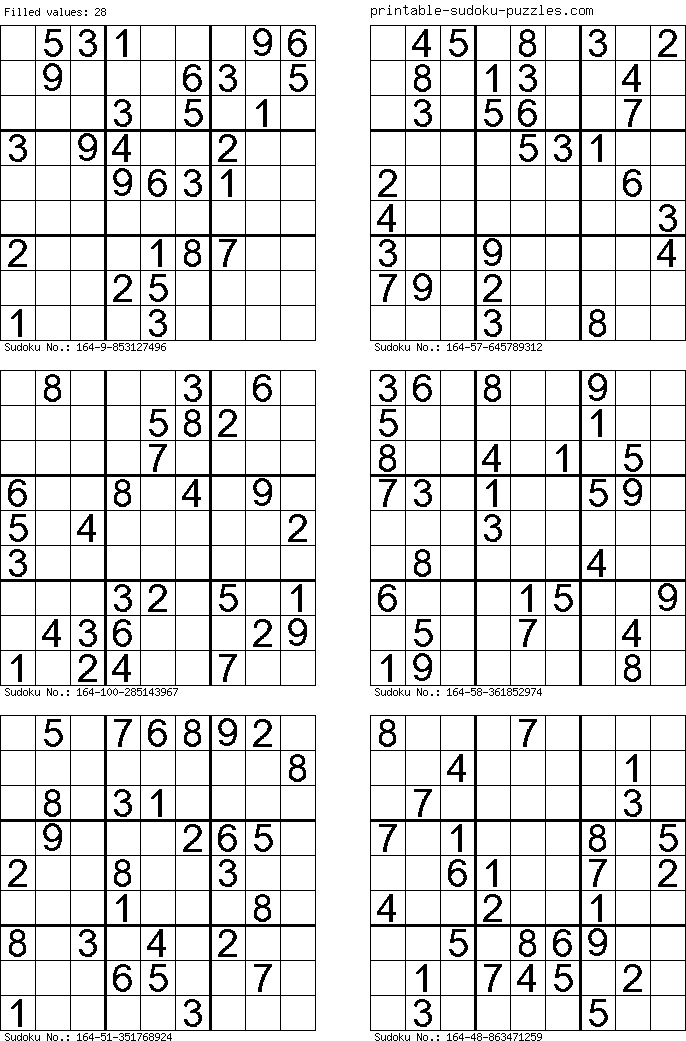 It is a graphic of Punchy Printable Sudoku 6 Per Page