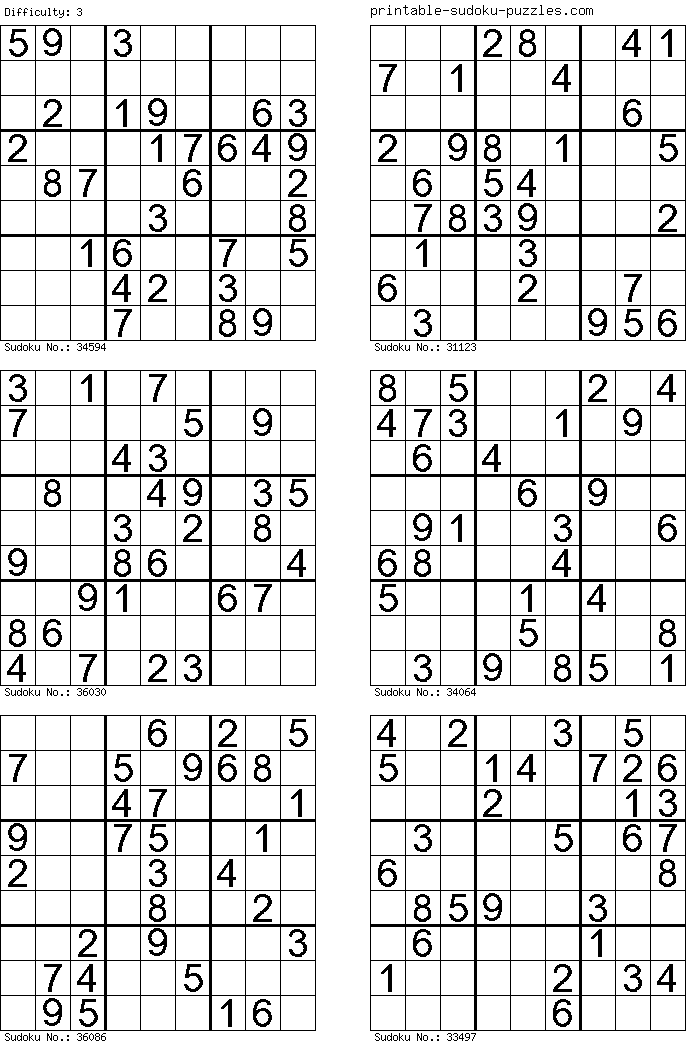 photograph regarding Sudoku Printable Pdf identified as Free of charge Printable Sudoku Puzzles